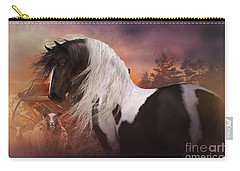 Carry-all Pouch featuring the digital art Gypsy On The Farm by Shanina Conway