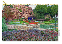 Carry-all Pouch featuring the photograph H D R Flower Garden Walkway by Aimee L Maher Photography and Art Visit ALMGallerydotcom