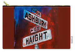 Haight And Ashbury Carry-all Pouch by Elise Palmigiani