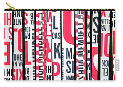 Haiku In Red And Black Carry-all Pouch
