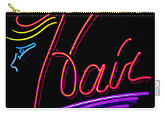 Hair In Neon Carry-all Pouch by E Faithe Lester