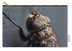 Carry-all Pouch featuring the photograph Hair On A Fly by Glenn Gordon