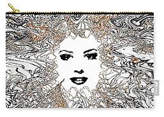 Carry-all Pouch featuring the digital art Hair Thair And Everywhair Mara by Seth Weaver