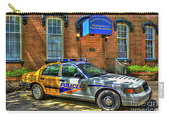 Carry-all Pouch featuring the photograph Half And Half What Is It Manna Savannah Georgia Police Art by Reid Callaway