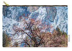 Half Dome Meadow Tree Winter Carry-all Pouch