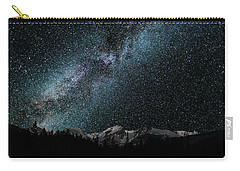 Carry-all Pouch featuring the photograph Hallet Peak - Milky Way by Gary Lengyel
