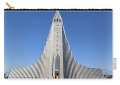 Carry-all Pouch featuring the photograph Hallgrimskirka by Wade Courtney