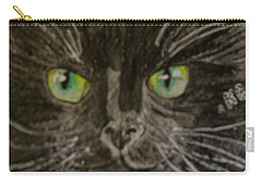Halloween Black Cat I Carry-all Pouch by Kathy Marrs Chandler