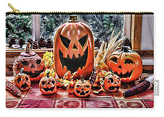 Carry-all Pouch featuring the photograph Halloween Display by Wendy McKennon