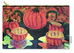 Carry-all Pouch featuring the painting Halloween Holidays by Donald J Ryker III