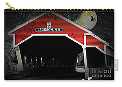 Carry-all Pouch featuring the photograph Halloween In Jackson by Barbara S Nickerson