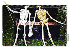 Halloween Skeleton Couple Carry-all Pouch