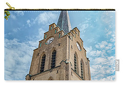 Carry-all Pouch featuring the photograph Halmstad Church In Sweden by Antony McAulay