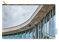 Carry-all Pouch featuring the photograph Halmstad University Labrary Detail by Antony McAulay