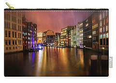 Carry-all Pouch featuring the photograph Hamburg By Night  by Carol Japp