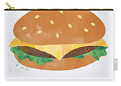 Hamburger Carry-all Pouch by Linda Woods