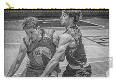 Carry-all Pouch featuring the photograph Hamlin Holding Off Blaney by Ronald Santini