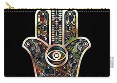 Carry-all Pouch featuring the digital art Hamsa Mosaic by Klara Acel
