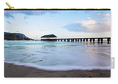Carry-all Pouch featuring the photograph Hanalei Bay Pier At Sunrise by Melanie Alexandra Price