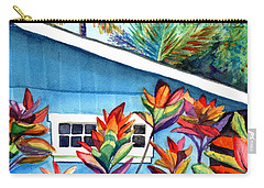 Carry-all Pouch featuring the painting Hanalei Cottage by Marionette Taboniar