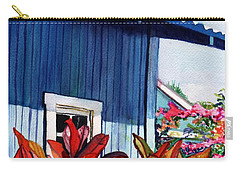 Carry-all Pouch featuring the painting Hanapepe Town by Marionette Taboniar