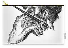 Hand And Pen Carry-all Pouch