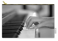 Hand On Piano Keyboard Carry-all Pouch