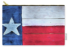 Hand Painted Texas Flag Carry-all Pouch