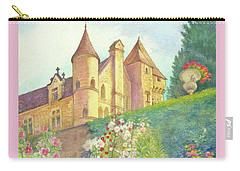 Handpainted Romantic Chateau Summer Garden Carry-all Pouch