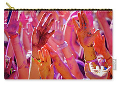 Carry-all Pouch featuring the photograph Hands Up-2 by Okan YILMAZ