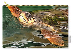 Hands Up For A Plastic Free Ocean Loggerhead Turtle Carry-all Pouch
