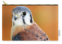 Handsome American Kestrel Carry-all Pouch
