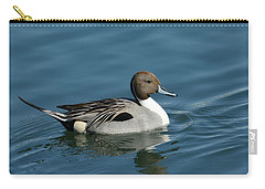 Carry-all Pouch featuring the photograph Handsome Drake by Fraida Gutovich