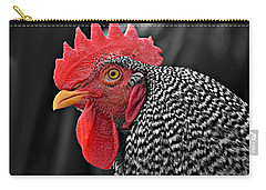 Handsome Plymouth Rock Rooster Carry-all Pouch