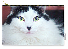 Carry-all Pouch featuring the photograph Handsome Tuxy by Byron Varvarigos