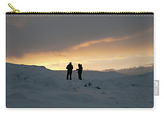 Carry-all Pouch featuring the photograph Hanging Around Iceland by Dubi Roman