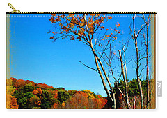 Carry-all Pouch featuring the photograph Hanging On To Autumn by Joan  Minchak