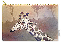 Carry-all Pouch featuring the painting Hanging Out- Giraffe by Ryan Fox