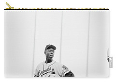 Hank Aaron On The Field, 1958 Carry-all Pouch by The Harrington Collection