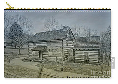 Carry-all Pouch featuring the digital art Hannastown Log Cabin One by Randy Steele