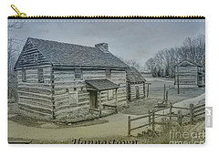 Carry-all Pouch featuring the digital art Hannastown Log Cabin Two by Randy Steele