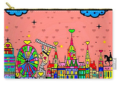 Hannover Popart By Nico Bielow Carry-all Pouch by Nico Bielow