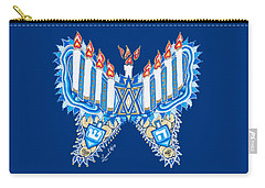 Hanukkah Butterfly Carry-all Pouch