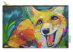 Happiest Fox Carry-all Pouch by Robert Phelps