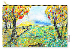 Happy Autumn Carry-all Pouch by Evelina Popilian