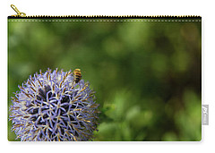 Carry-all Pouch featuring the photograph Happy Bee by Lora Lee Chapman