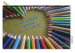 Happy Birthday Aquarius Carry-all Pouch