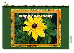Carry-all Pouch featuring the photograph Happy Birthday Card by Sonya Nancy Capling-Bacle
