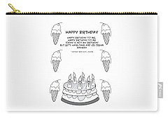 Carry-all Pouch featuring the drawing Happy Birthday by John Haldane