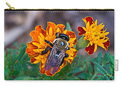 Happy Bumblebee Carry-all Pouch by Kenneth Albin